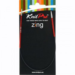 Knitpro Zing 25 cm Rondbreinaaldjes - Sokkennaaldjes - 2.5