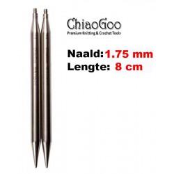 Chiaogoo Verwisselbare Naaldpunten 1.75 - Twist Red Lace Mini (8 cm)
