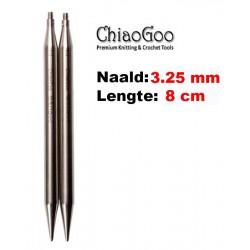 Chiaogoo Verwisselbare Naaldpunten 3.25 - Twist Red Lace Mini (8 cm)