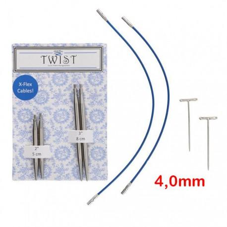 Chiaogoo Verwisselbare Naaldpunten 4.0 - Twist Short Combo