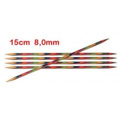 KnitPro Symfonie sokkennaalden 15 cm 8,00 mm