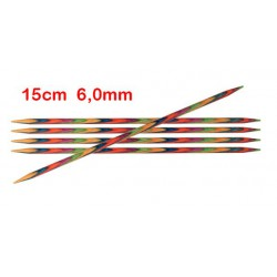 KnitPro Symfonie sokkennaalden 15 cm 6,00 mm