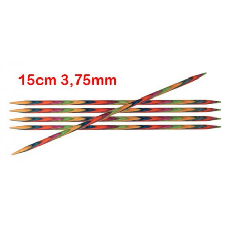 KnitPro Symfonie sokkennaalden 15 cm 3,75 mm