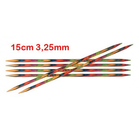 KnitPro Symfonie sokkennaalden 15 cm 3,25 mm