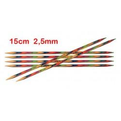KnitPro Symfonie sokkennaalden 15 cm 2,50 mm