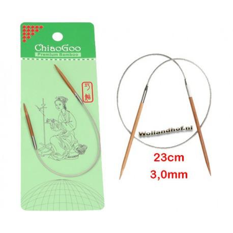 Chiaogoo 23 cm - 3.0 mm Bamboe Rondbreinaald Patina
