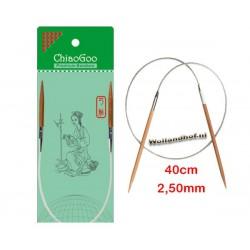 Chiaogoo 40 cm - 2.5 mm Bamboe Rondbreinaald Patina