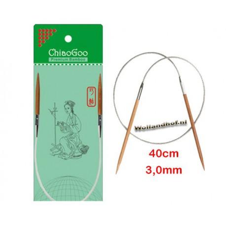 Chiaogoo 40 cm - 3.0 mm Bamboe Rondbreinaald Patina