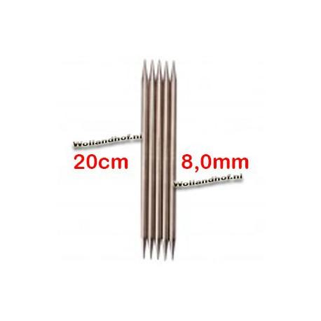 Chiaogoo Sokkennaalden - DPNs 20 cm - 8.0 mm