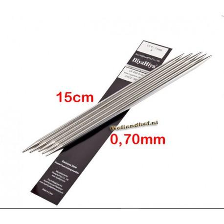 HiyaHiya Steel Sokkennaalden 15 cm - 0.70 mm