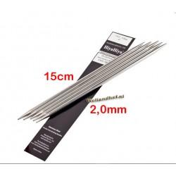 HiyaHiya Steel Sokkennaalden 15 cm - 2.0 mm