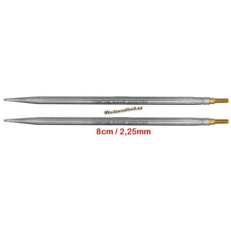 HiyaHiya Steel 8 cm - 2.25 mm - verwisselbare naaldpunten-tips