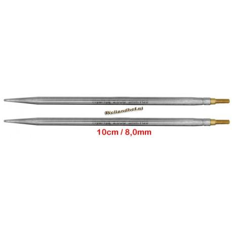 HiyaHiya Steel 10 cm - 8.0 mm - verwisselbare naaldpunten-tips