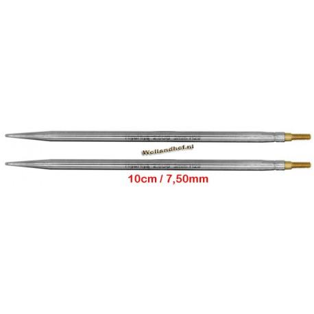 HiyaHiya Steel 10 cm - 7.50 mm - verwisselbare naaldpunten-tips