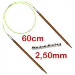 HiyaHiya Bamboe rondbreinaald 60 cm - 2.50 mm