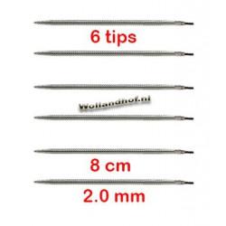 HiyaHiya Steel 8 cm - 2.0 mm - Flyers Trio Tips
