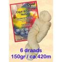 Ongeverfde Opal Sokkenwol - 6 draads