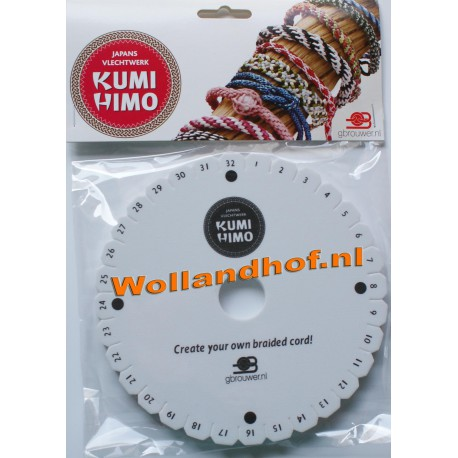 Kumihimo Vlechtschijf rond 15cm
