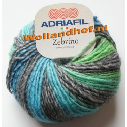 Adriafil Zebrino - 62 Multi Blauw-Groen Fancy