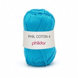 Phildar Phil Coton 4 - 0041 Turquoise OP is OP
