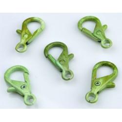 Metalen Sleutelhanger / Sluiting Groen