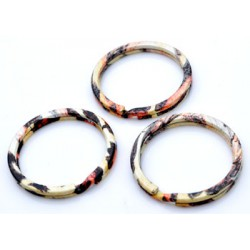 Metalen Sleutelhanger Ring - Tijgerprint