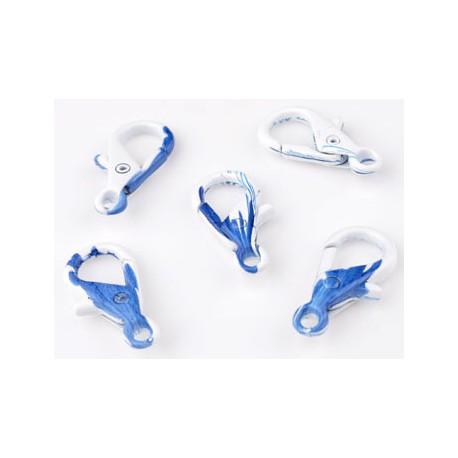Metalen Sleutelhanger / Sluiting Wit - Blauw