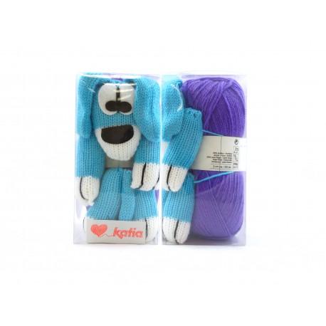 Katia New Dog Breipakket Paars - Licht Blauw