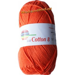 GB Cotton 8 1710 - Donker Oranje OP is OP