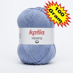 Katia Menfis kleur 12 - Licht blauw OP is OP