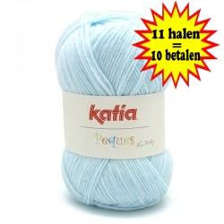 Katia Peques Baby Acryl - kleur 84909 Zeer Licht Blauw OP is OP