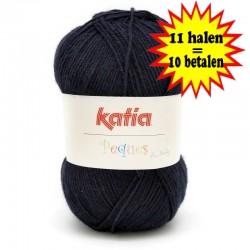 Katia Peques Baby Acryl - kleur 84910 Zeer Donker Blauw OP is OP