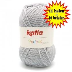 Katia Peques Baby Acryl - kleur 84918 Licht Grijs OP is OP