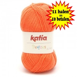 Katia Peques Baby Acryl - kleur 84921 Oranje OP is OP