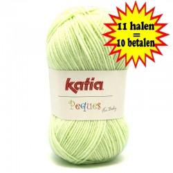 Katia Peques Baby Acryl - kleur 84913 Zeer Licht Groen OP is OP