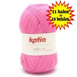Katia Peques Baby Acryl - kleur 84926 Zuurstok Roze OP is OP