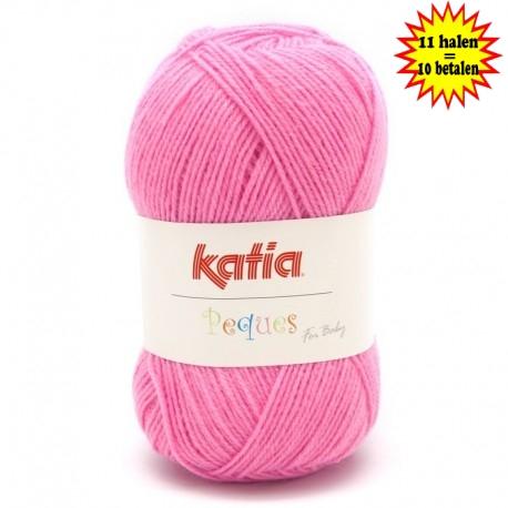 Katia Peques Baby Acryl - kleur 84926 Zuurstok Roze