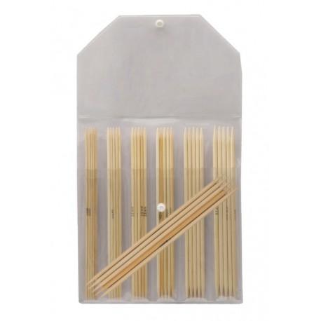 KnitPro Bamboe Sokkennaalden Set - 15 cm