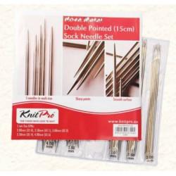 KnitPro Nova Metall Sokkennaalden Set - 15 cm