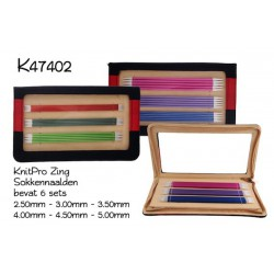 KnitPro Zing Sokkennaalden Set - 20 cm