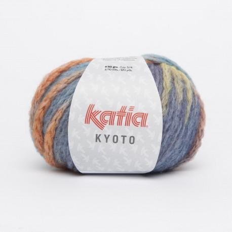 Katia Kyoto kleur 62 - Turquoise-Blauw-Rood-Geel