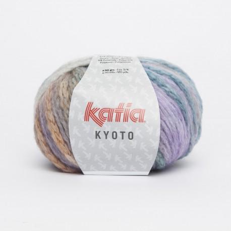 Katia Kyoto kleur 65 - Lila-Parelmoer-lichtviolet-Oranje-Blauw