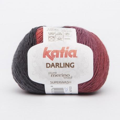 Katia Darling kleur 204 - Rood-Wijnrood-Bordeauxpaars-Zwart