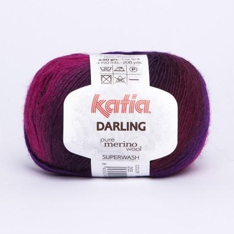 Katia Darling kleur 205 - Fuchsia-Medium paars-Paars-Zwart