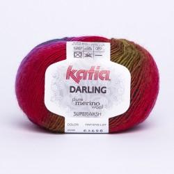 Katia Darling kleur 208 - Fuchsia-Lila-Pistache-Donker paars