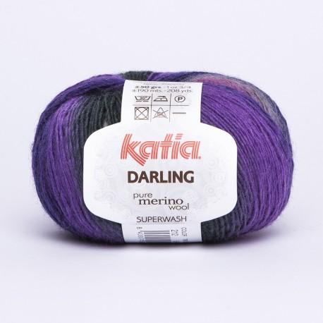 Katia Darling kleur 212 - Fuchsia-Grijs-Lila-Groenblauw