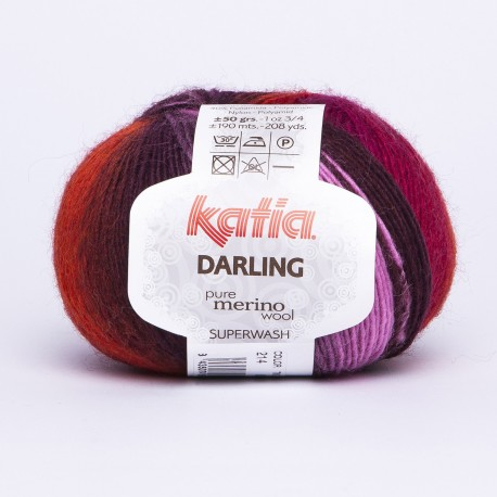 Katia Darling kleur 214 - Bleekrood-Oranje