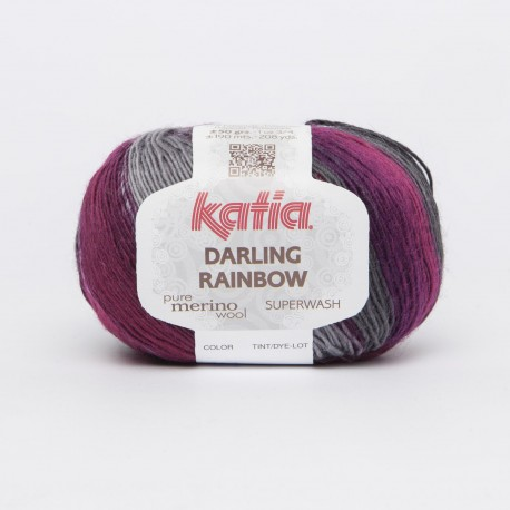 Katia Darling Rainbow kleur 303 - Grijs - Lila - Licht lila