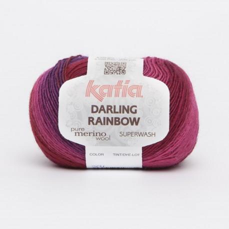 Katia Darling Rainbow kleur 304 - Lila - Bleekrood - Rood
