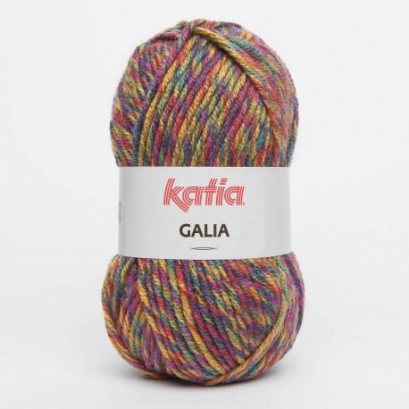 Katia Galia kleur 76 - Pistache - Flessegroen - Rood - Geel